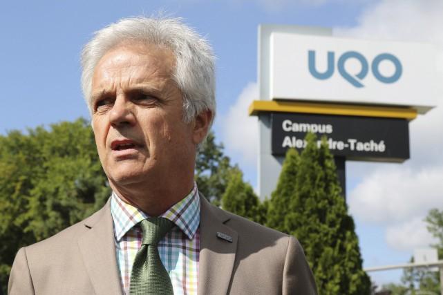 Le recteur de l'UQO, Denis Harrisson, était convaincu... (Patrick Woodbury, Archives Le Droit)