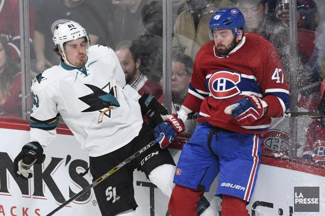 Relisez notre couverture de l'affrontement entre le Canadien et les Sharks de... (PHOTO BERNARD BRAULT, LA PRESSE)