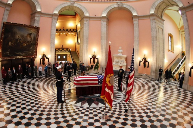 John Glenn sera inhumé au mois d'avril au... (Photo Aaron Josefczyk, REUTERS)