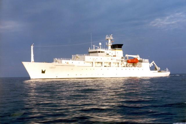 Photo non datée du USNS Bowditch,un bateau de... (AP)
