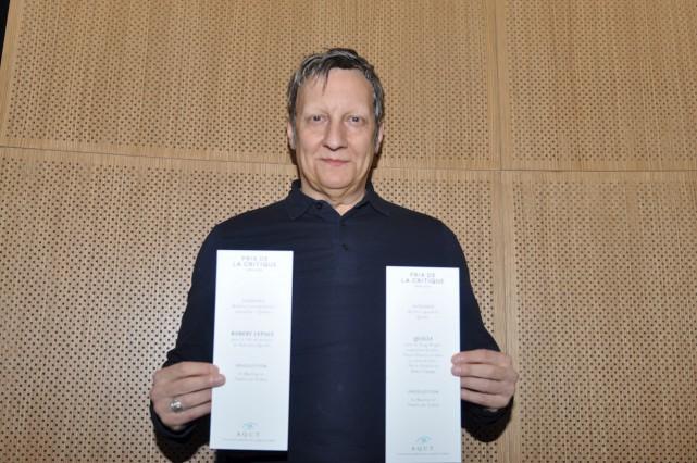RobertLepage a été récompensé deux fois plutôt qu'une... (AQCT, Simon Lambert)
