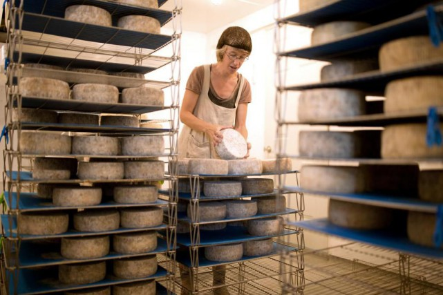 Julie Labrecque, de la Ferme les Broussailles... (PHOTO MARTIN CHAMBERLAND, ARCHIVES LA PRESSE)