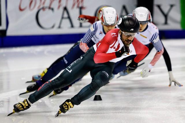 Charles Hamelina été le plus rapide devant le... (PHOTO JEFF MCINTOSH, ARCHIVES PC)