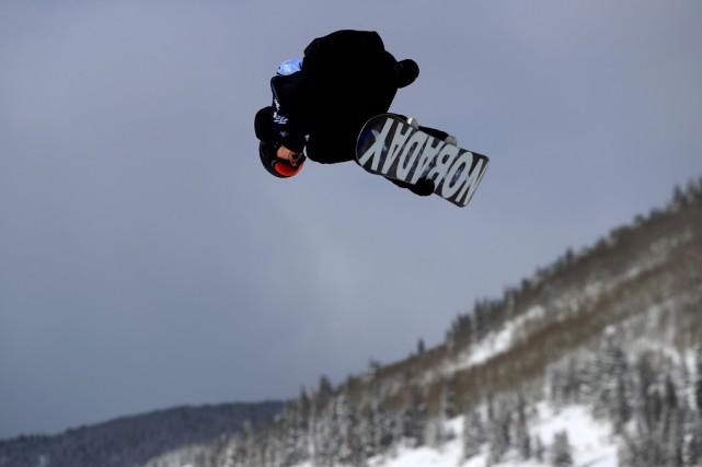 Maxence Parrot, de Bromont, a réussi un «frontside... (AFP)