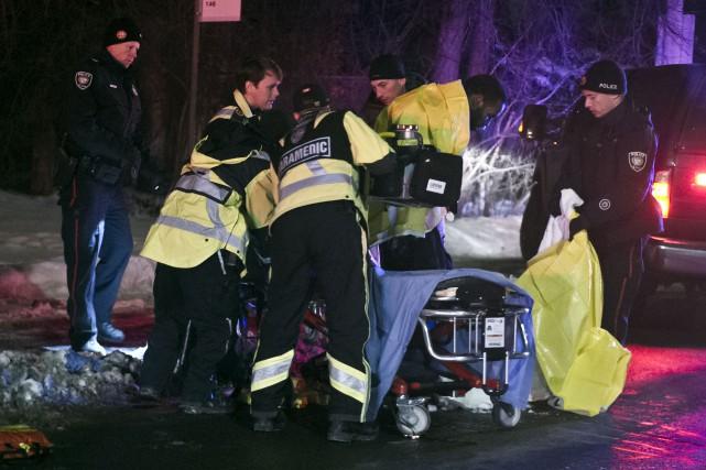 Le suspect a été interpellé à proximité de... (Martin Roy, Le Droit)