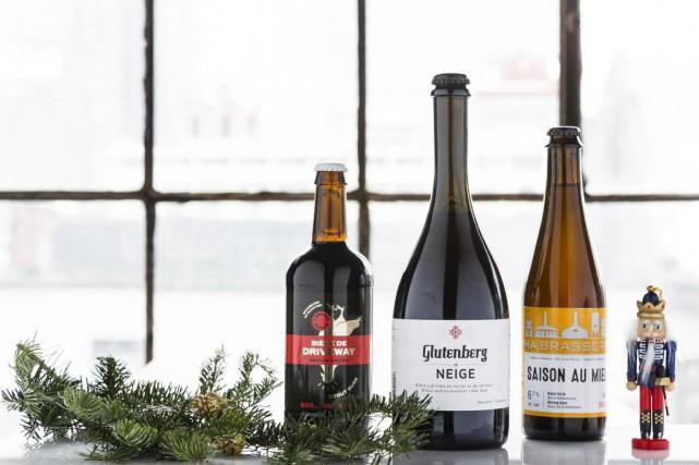 Quelques bières sauvages:Bière de driveway de L'espace public,Glutenberg... (PHOTO ÉDOUARD PLANTE-FRÉCHETTE, LA PRESSE)