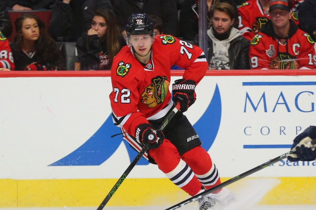 Artemi Panarin a récolté 10 points en quatre matchs... (Photo Dennis Wierzbicki, USA Today Sports)