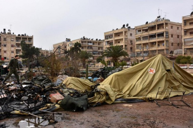 «Le droit humanitaire qui régit le comportement des... (PHOTO GEORGE OURFALIAN, AGENCE FRANCE-PRESSE)