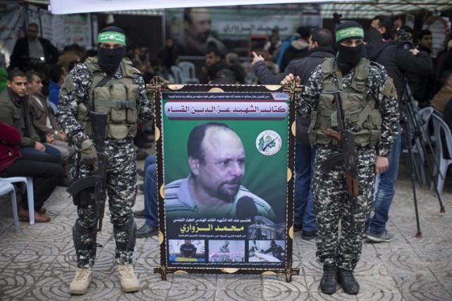 Le Hamas, qui a décrété une journée de... (PHOTO AFP)