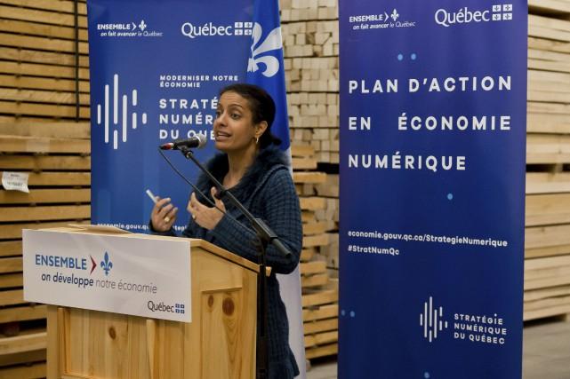 La ministre de l'Économie, Dominique Anglade, souhaite que... (Spectre Média, Jessica Garneau)