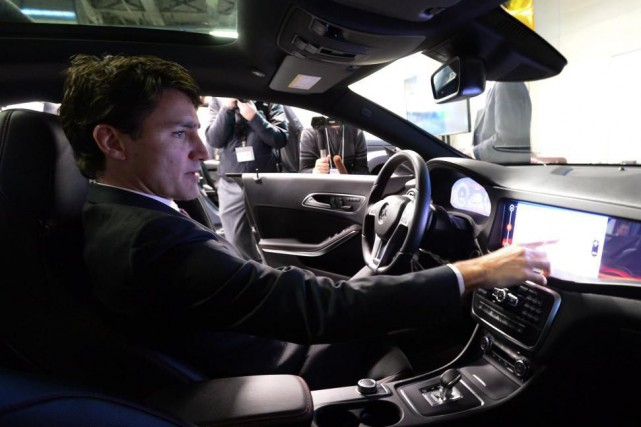 Le premier ministreJustin Trudeau, qui était présent lors... (PHOTOSean Kilpatrick, La Presse canadienne)