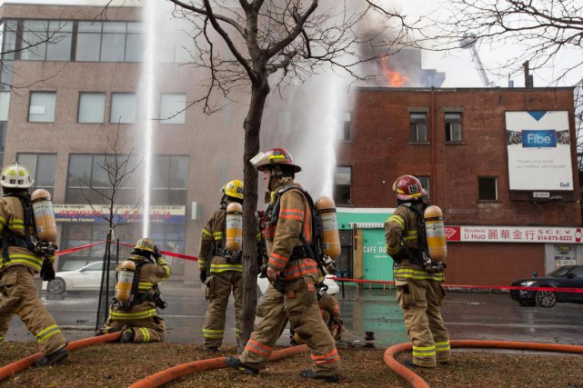 LaPresse écrivait récemment que moins de 1%des pompiers... (Photo Mathieu Waddells, archives La Presse)