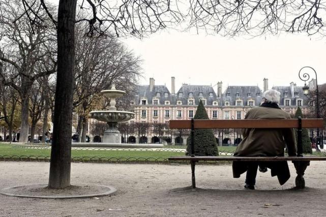 LeSquare Louis-XIII, au centre de la place des... (Photo Jean-Christophe Laurence, La Presse)