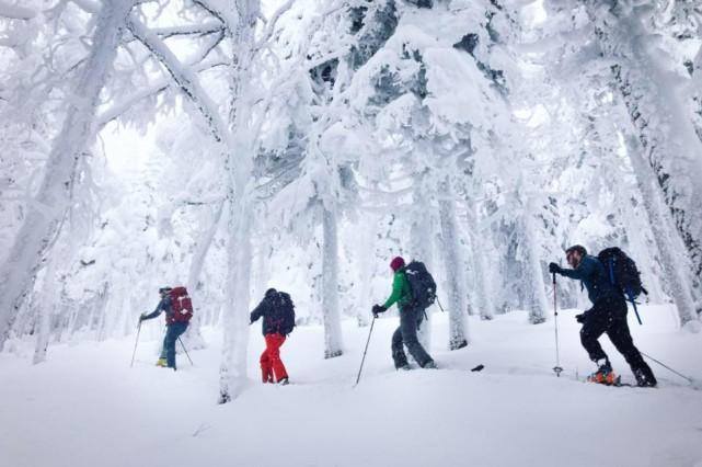 Bon an mal an, plusieurs amateurs de ski en poudreuse prennent la route de la... (Photo tirée de Facebook)