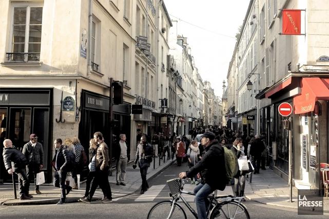 La rue des Francs-Bourgeois, dans le quartier du... (Photo Jean-Christophe Laurence, La Presse)