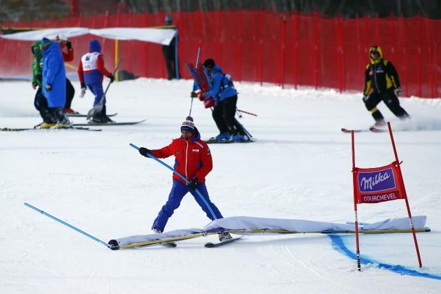 La compétitiona été annulée en raison des forts... (Photo Giovanni Auletta, AP)