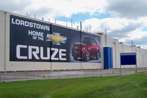 La Chevrolet Cruze, assemblée à l'usine de Lordstown,... (Photo : General Motors)