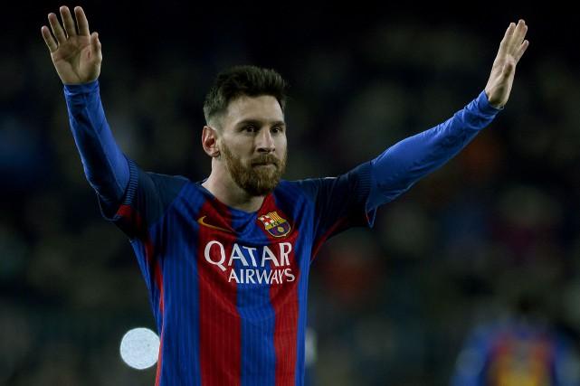 Le contrat de Lionel Messi avec le FC... (Photo Josep Lago, AFP)