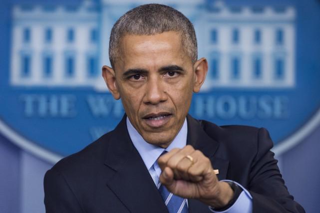 Barack Obamaa fait de la protection de l'environnement... (PHOTO AFP)