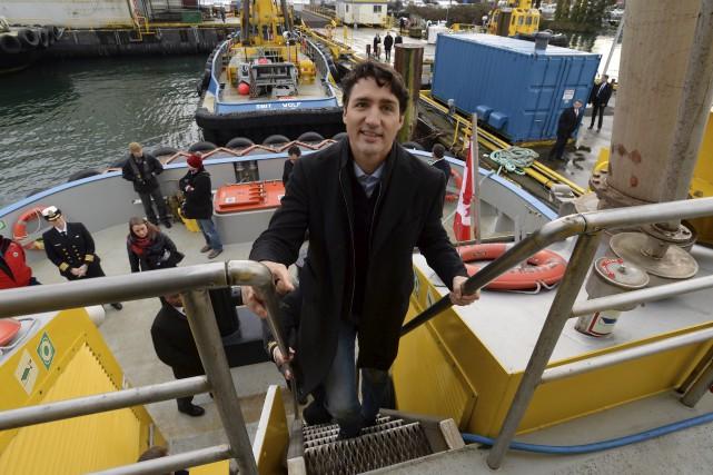 Le premier ministre Justin Trudeau était à Vancouver,... (La Presse canadienne, Jonathan Hayward)