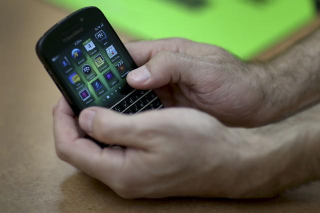 WATERLOO, Ont. - Le grand patron de BlackBerry a bon espoir de voir sa... (Archives, Agence France-Presse)