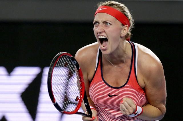 La Tchèque Petra Kvitova, championne du tournoi de... (AP, Aaron Favila)