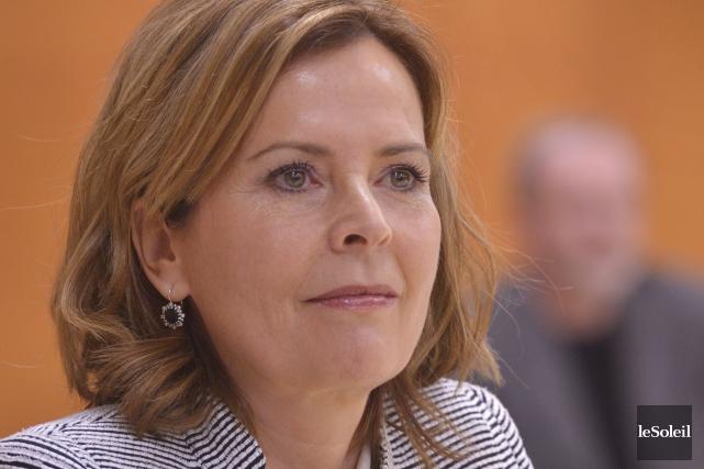 Anne Guérette, la chef de Démocratie Québec, a... (Le Soleil, Jean-Marie Villeneuve)