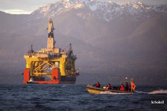 Dans l'océan Arctique au large de l'Alaska, Barack... (Photothèque Le Soleil)