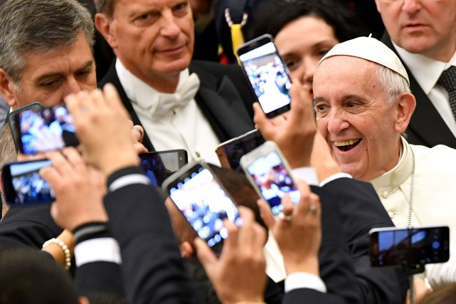 Le pape François... (Photo Alberto Pizzoli, AFP)