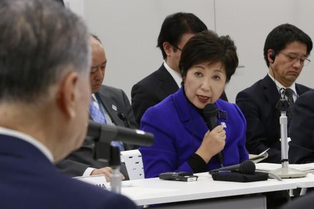 La gouverneure de Tokyo, Yuriko Koike.... (Photo Shizuo Kambayashi, AP)
