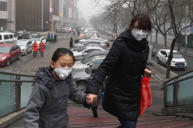 Shijiazhuang, capitale de la province du Hebei, est... (photo GREG BAKER, Agence France-Presse)