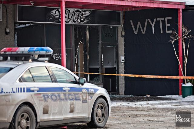 Les policiersont rapidement décelé des odeurs d'accélérant et... (Patrick Sanfaçon, La Presse)