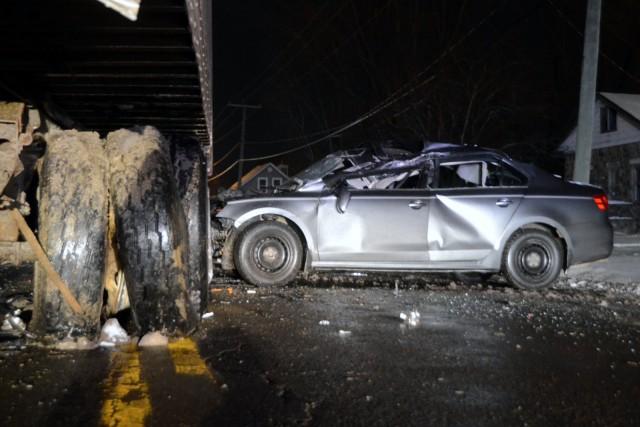 Un conducteur éméché est entré en collision avec un camion lourd qui effectuait... (Photo collaboration spéciale Éric Beaupré)