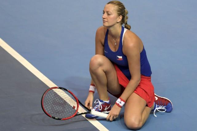 Petra Kvitova, en novembre 2016... (AFP, PATRICK HERTZOG)