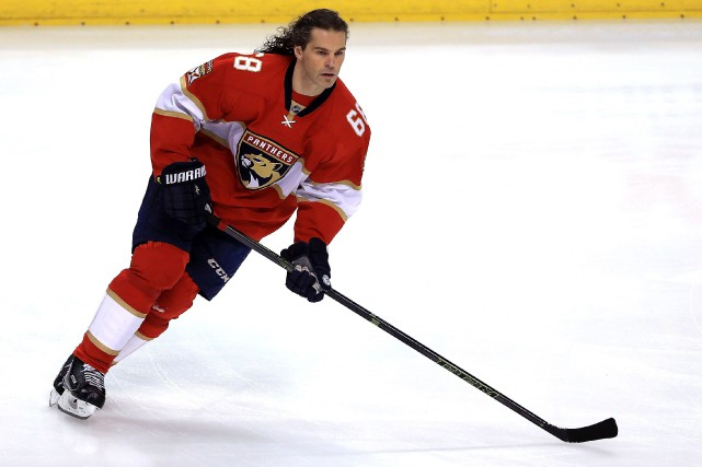 Le prochain point de Jaromir Jagr lui donnera... (Photo Mike Ehrmann, archives AFP)