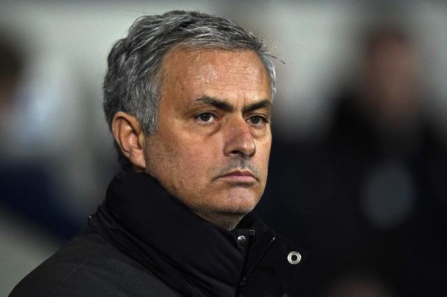 L'entraîneur de Manchester United, José Mourinho.... (Photo Oli Scarff, AFP)