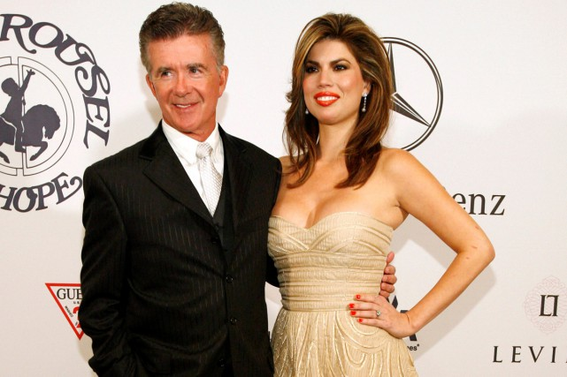 Alan Thicke et sa femme Tanya en octobre... (PHOTO ARCHIVES REUTERS)