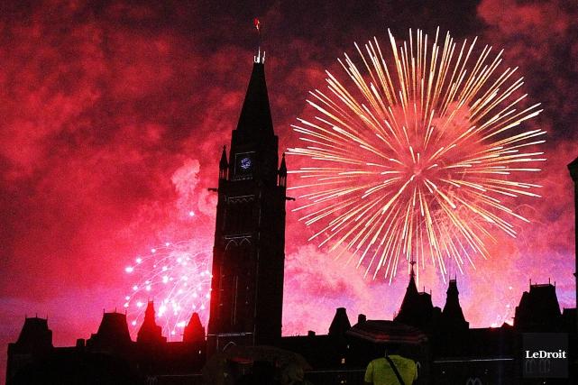 Des feux d'artifice illumineront le ciel de la... (Etienne Ranger, Archives Le Droit)