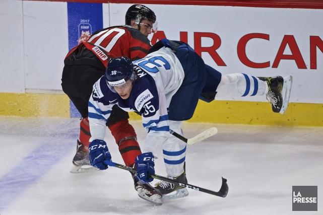 Les Finlandais ont baissé pavillon devant le Canada... (Archives, La Presse)