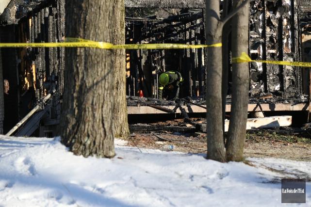 L'identité de la vicitme de l'incendie survenu le... (Julie Catudal, Archives La Voix de l'Est)