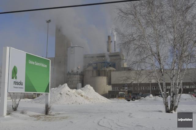 La proximité de l'usine Résolu de Saint-Félicien est... (Photo Le Quotidien, Louis Potvin)