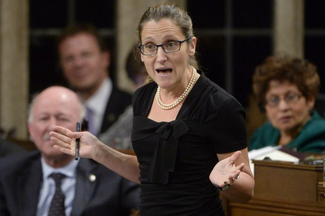 La ministre du Commerce international,Chrystia Freeland... (Archives, La Presse canadienne)