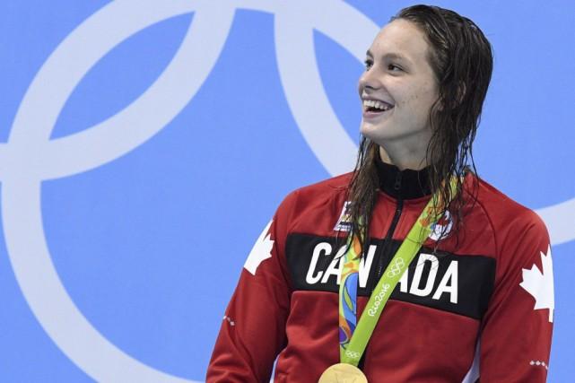 Penny Oleksiak lors des Jeux olympiques de Rio.... (Archives La Presse canadienne)