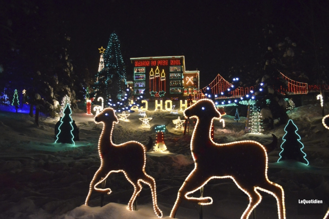 La Maison du père Noël de Girardville.... (Photo Le Quotidien, Louis Potvin)
