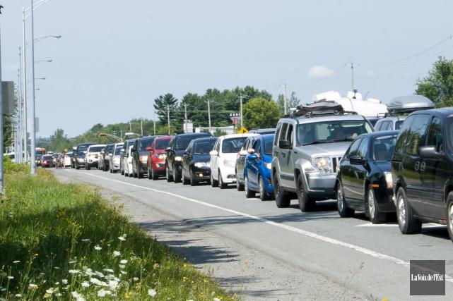 Le tronçon de la route139 entre l'autoroute10 et... (archives La Voix de l'Est)