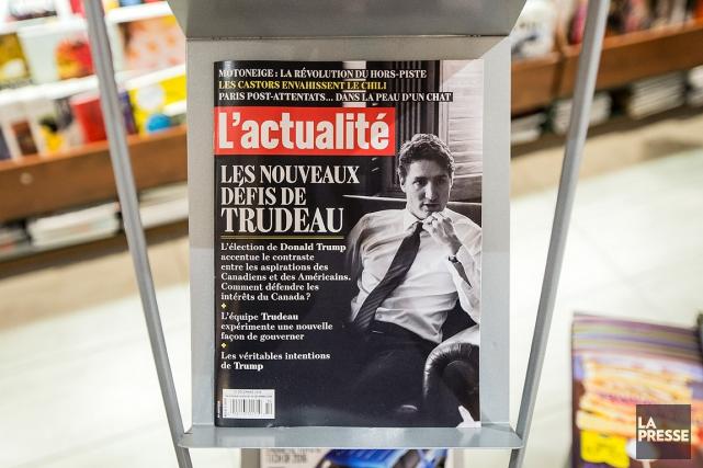 Sur la photo, un magazine L'actualité, en vente... (Édouard Plante-Fréchette, archives La Presse)