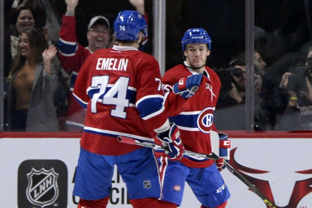 Alexei Emelin et Andrew Shaw... (Photo Eric Bolte, archives USA TODAY Sports)