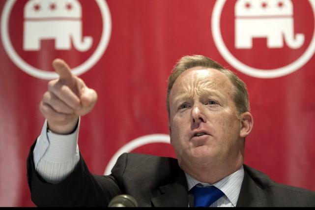 Sean Spicer a été nommé porte-parole de l'exécutif... (AP, Cliff Owen)