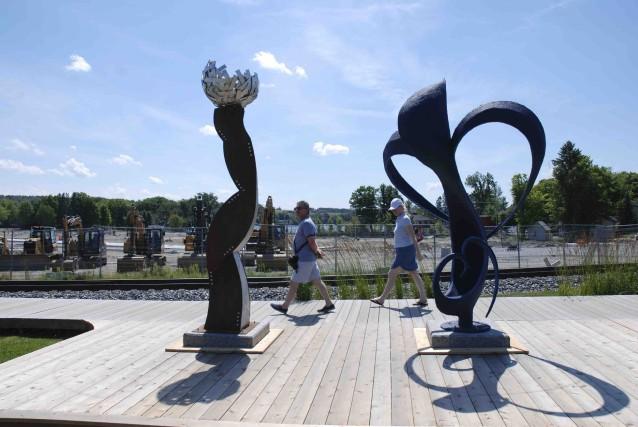 Le parcours de sculptures le Marcheur d'étoiles... (Fournie par le Bureau de reconstruction du centre-ville de Lac-Mégantic)