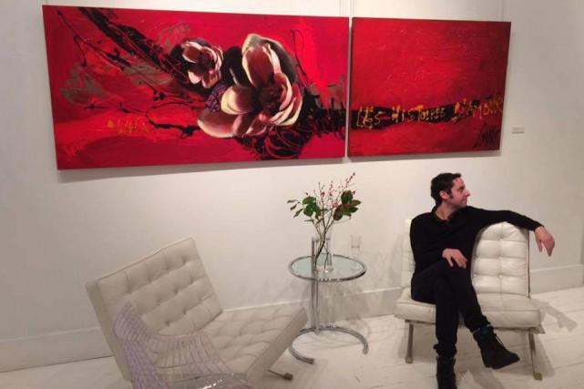 Marc-Olivier Corneau, le filleul de la peintre Corno,... (Photo courtoisie)